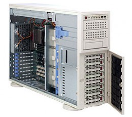 Supermicro A+ Server 4021M-T2R+B,Tower  4U Rackmountable Barebone System, No CPU, No RAM, No HDD