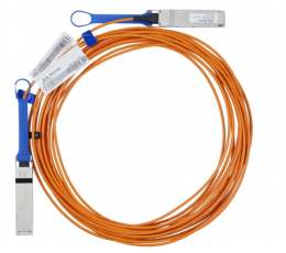 Mellanox active fiber cable, VPI, up to 56Gb/s, QSFP, 5m - Part ID: MC220731V-005
