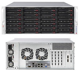 Supermicro SuperChassis 846BE2C-R1K28B Storage JBOD 4U Chassis, No HDD