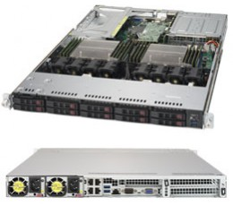 Supermicro Superserver SYS-1028UX-LL2-B8, 1U with 2xE5-2687W v4  and 8x8GB DDR4(Included)-Complete System Only