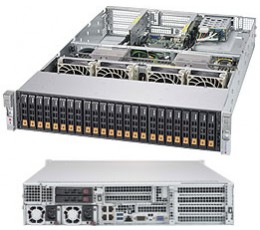 Supermicro SuperServer 2028U-TN24R4T+, 2U Completely Assembled Systems only (with minimum 2 CPU, 4 DIMM and 6 NVMe)