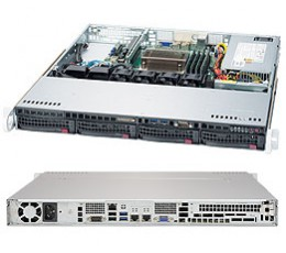 Supermicro Superserver 5019S-MT, 1U Rackmount, No CPU, No RAM, No HDD