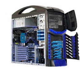 Hyper-Speed Gaming System, Extreme Performance with Hardware Acceleration,  Supermicro SuperServer 5038AD-T, Mid-Tower Barebone System, No CPU, No RAM, No HDD