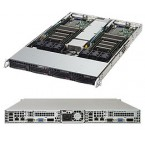 Supermicro SuperServer 6018TR-TF, 1U Twin Barebone System, No CPU, No RAM, No HDD