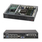 Supermicro SuperServer E300-8D, Mini-1U with Intel Xeon processor D-1518, System-on-Chip (SOC)