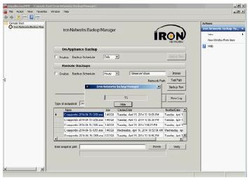 Iron Networks URA - Backup and Recovery Utility Screenshot