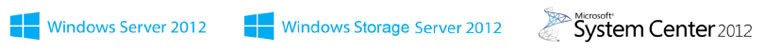 Windows Server 2012 Storage 2012 System Center Platform Logos